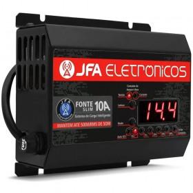 FONTE CARREGADOR DE BATERIA JFA 10A SCI COM DISPLAY