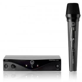 MICROFONE VOCAL DINAMICO SEM FIO UHF 5 FREQUENCIA PW VSET BL45 VOCAL AKG BANDA A