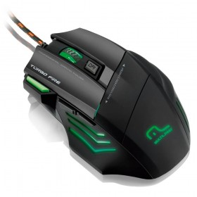 WARRIOR GAMER MOUSE 7 BOTOES 3200 DPI PRETO USB MULTILASER