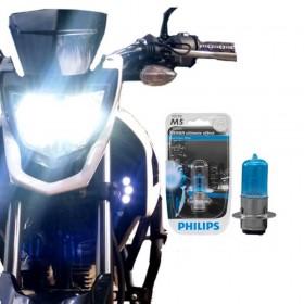 LÂMPADA PHILIPS M5 BLUE VISION FAROL MOTO 4000K 12 VOLTS 35W 12153BVBI
