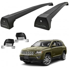 TRAVESSA TETO JEEP COMPASS LONGARINA INTEGRADA PRETO LONG LIFE