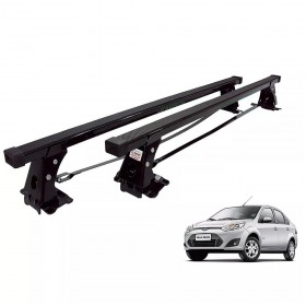 RACK TETO FIESTA HATCH E SEDAN 2003 ATE 2014 MODELO AÇO LONG LIFE