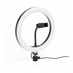 "ILUMINADOR RING LIGHT LED ANEL ARO LUZ 12"" SUP CELULAR"