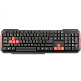 TECLADO SEM FIO 2.4GHZ  MULTIMIDIA GAMER RED KEYS USB MULTILASER